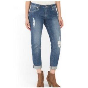KFTK Distressed Celine Slouchy Boyfriend Jeans 4